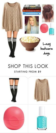 """Bookworm"" by lyndseymae ❤ liked on Polyvore featuring Eos and Essie"