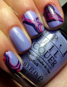 Nails by an OPI Addict: Euro Centrale Water Marble!