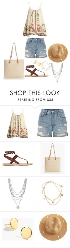 """Untitled #1603"" by rubysparks90 ❤ liked on Polyvore featuring Mes Demoiselles..., River Island, Ancient Greek Sandals, Talbots, Treasure & Bond and J.Crew"