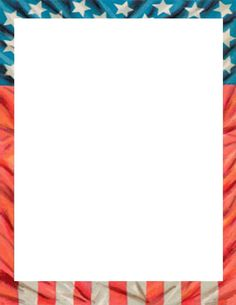 Patriotic page border featuring American flags and other ...  Patriotic page ...