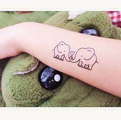 1 set of Elephant temporary tattoo fake tattoo by MaomaoCreation, $3.99