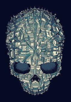Cool Art Prints on Threadless Memento Mori, Puro Osso, Skull Artwork, Skeleton Art, Hang Ten, Skull Design, Art Graphique, Sculpture, Skull And Bones
