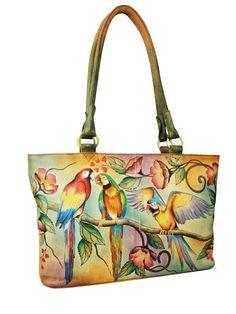 488-MCW-Front-new-1 #bags #handpainted #painted #handbag #bird #macau