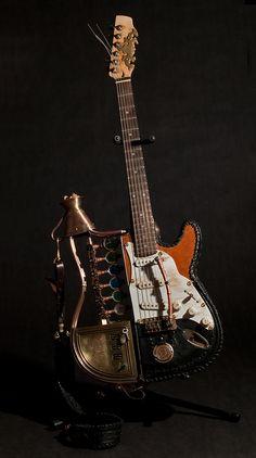 Custom Time Machine Guitar built by Cindy Chinn