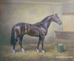 Horse painting by Kolobaev Yaroslav