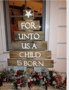 For unto us a child is born tree.