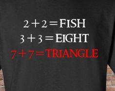 Funny Math Shirt - 2+2 = Fish - Math Teacher Gift - Nerd Humor - Mens Womens - Christmas Gift - Handmade