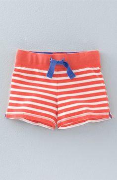 Mini Boden 'Stripy' Sweat Shorts (Toddler Girls, Little Girls & Big Girls)