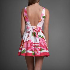 Abercrombie & Fitch Pink And White Floral Dress