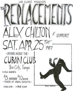 The Replacements with Alex Chilton gig poster.