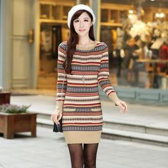 New Women Printing Long sleeved slim sweater Dress Lip Wallpaper, Casual Dresses, Short Dresses, Picture Sizes, New Woman, Bodycon Dress, Printing, Slim, Clothes For Women