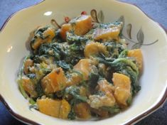 Butternut Squash W Wilted Spinach And Blue Cheese Recipe - Genius Kitchen