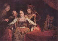 Aert de Gelder,  Die Judenbraut (Esther läßt sich schmücken).1684, Leinwand, 139 × 163cm.München, Alte Pinakothek.Niederlande (Holland).Barock.  KO 00331