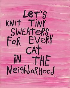 Got my knitting needles ready :)