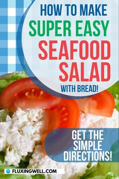 How to Make Easy Seafood Salad with Bread: This special side dish is a way to make any good meal great. This easy recipe for seafood lovers Is one of the best salad recipes because of its simple ingredients. If you are looking for a homemade salad that's different from other salad recipes, this one will add a delicious, elegant touch to any celebration, dinner-for-two, or family gathering. It's a great side dish to add to your repertoire. Try it this holiday season! #saladrecipes… Sea Food Salad Recipes, Best Salad Recipes, Easy Healthy Recipes, Seafood Recipes, Easy Dinner Recipes, Snack Recipes, Easy Meals, Dishes To Go, Side Dishes