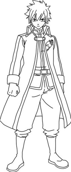 fairy tail coloring pages anime coloring Pages Pinterest