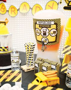 Smashing Construction First Birthday Party Theme Kids Boys Yellow Black