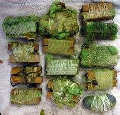 Awesome natural dyeing techniques.