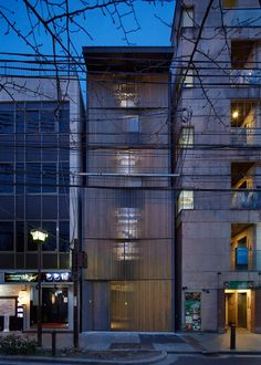 German architect Florian Busch conceived this Kyoto bar as one continuous space spread over eight levels
