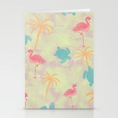 Tropical Pattern Stationary from Sunshine Inspired Designs available at Society6.