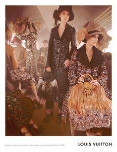 Aboard the Louis Vuitton Express for the F/W 2012-2013 Women's Collection.    Shot by Steven Meisel