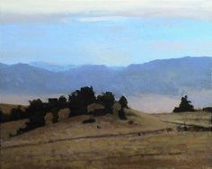 Valley Rim, 8 x 10 inches, oil on panel. Marc Bohne