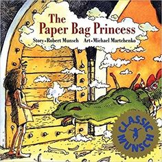 The Paper Bag Princess - Princess Elizabeth is excited to marry dreamy Prince Ronald, but then a dragon attacks the castle, kidnaps her prince, and burns all her clothes. In resourceful and humorous fashion, Elizabeth dons a paper bag, finds and outsmarts the dragon, and rescues Ronald—who is less than pleased at her unprincesslike appearance. What's a modern-day princess to do? Read this delightful tale to find out.
