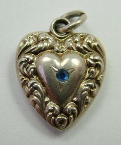 Fine Creative Vintage Sterling Silver Small Puffy Heart Charm