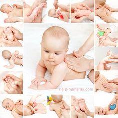 Los niños suelen sufrir cólicos por eso es importante darle masajes para combatirlos :)