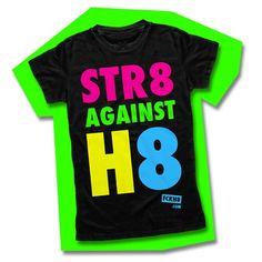 "Women's Fitted Black ""STR8 Against H8"""