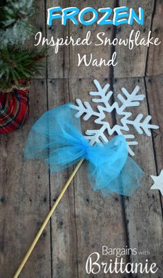 Frozen Inspired Snowflake Wand- Easy and so inexpensive to make!