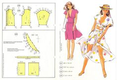 Álbumes web de Picasa Vogue Sewing Patterns, Doll Patterns, Vintage Patterns, Clothing Patterns, Vintage Sewing, Dress Patterns, Barbie Clothes, Diy Clothes, Diy Fashion