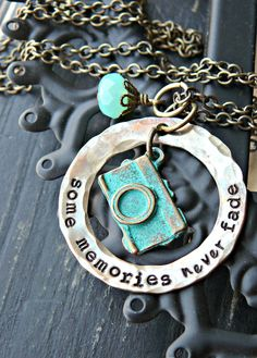 I want this!!! Hand Stamped Jewelry - Hand Stamped Necklace - Camera Necklace - Photographers Jewelry