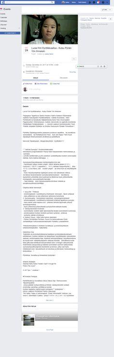 Screenshot: (4) Lucia-Yön Kynttilävaellus - Kutsu Pyhän Yön Ihmeisiin Facebook