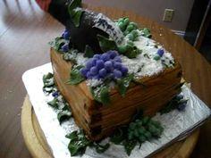 Fondant Wine Crate Cake