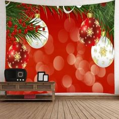 Hanging Waterproof Snowflake Christmas Balloons Wall Art Tapestry - COLORFUL COLORFUL