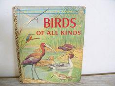 Birds of All Kinds - Bird Book - Little Golden Book - Vintage Children's Book - Walter Ferguson - 1959 - A - No 380 - 1st Edition