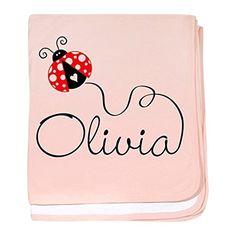 CafePress - Ladybug Olivia baby blanket - Baby Blanket, Super Soft Newborn Swaddle * Want additional info? Click on the image. #NurseryBedding