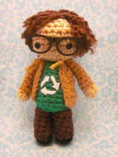 Leonard Big Bang Theory Amigurumi Crocheted Doll by SpudsStitches, $30.00
