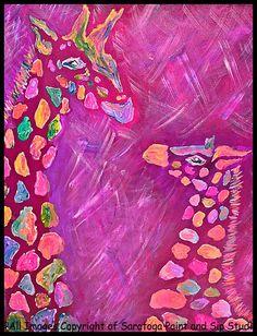 GIRAFFES at Saratoga Paint & Sip Studio