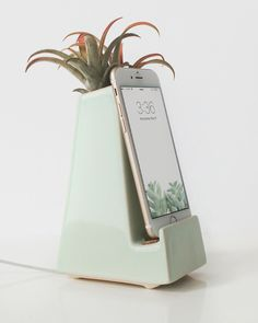 A stylish, modern phone dock