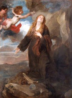 Anthony van Dyck - Saint Rosalie Crowned with Roses by Two Angels