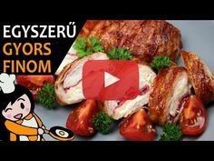 Bacon Wrapped Stuffed Chicken, Chicken Breast With Bacon, A Food, Food And Drink, Food Videos, Recipe Videos, How To Make Bacon, Barbecue Sauce Recipes, Pork