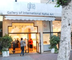 GINA Gallery - street view from Dizengoff street