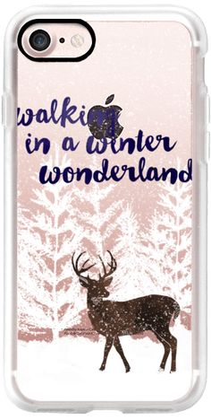 Casetify iPhone 7 Classic Grip Case - Walking in a Winter Wonderland (transparent) by Noonday Design #Casetify