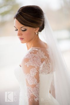 Beautiful Winter Bride - San Patrick Wedding Gown with Lace Wedding Bolero Jacket from Rena Elle Couture (NJ)
