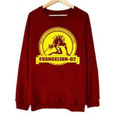Neon Genesis Evangelion sweatshirt Asuka Langley Soryu Eva 02 red pullover sweatshirts