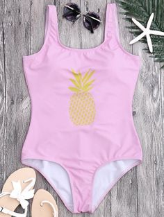 GET $50 NOW | Join Zaful: Get YOUR $50 NOW!http://m.zaful.com/u-neck-backless-pineapple-print-swimsuit-p_282956.html?seid=p8svg0su9tlb3jgkjsi6dv1p41zf282956