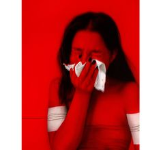 This reminds me of allergies! and how terrible it can be, esp. during this pollen season The artwork is of Roy Nachum, titled Tears