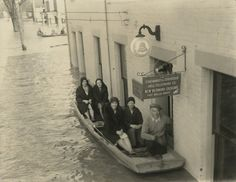 New Richmond, Ohio, 1937 flood, from the collection of the Cincinnati Bell Historical Archives: At New Richmond Exchange.